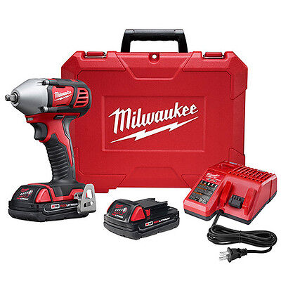 "Milwaukee M18 18V 3/8"" Impact Wrench Kit with Friction Ring 2658-22CT New"