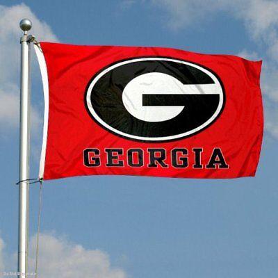 (GEORGIA BULLDOGS FLAG 3'X5' UGA UNIVERSITY OF GEORGIA: FREE SHIPPING)