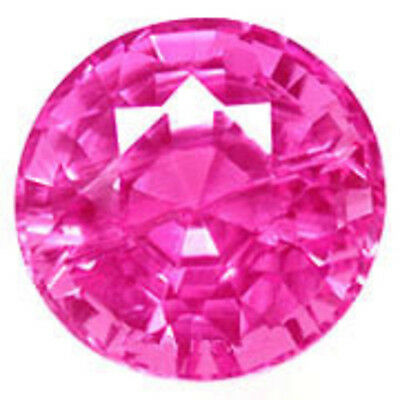 11 mm 6.3 cts round brilliant Pink lab created Sapphire