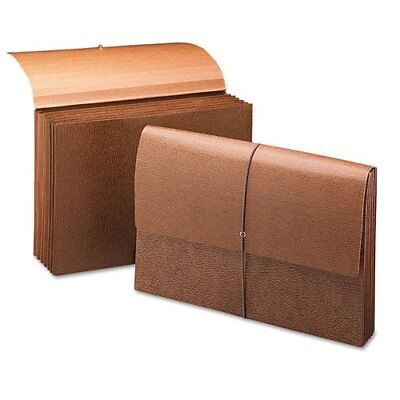 Smead 72375 Leather-like Partition Wallets With Elastic Cord - Legal - 8.50