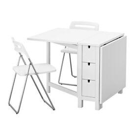 ikea norden beech folding table SOLD