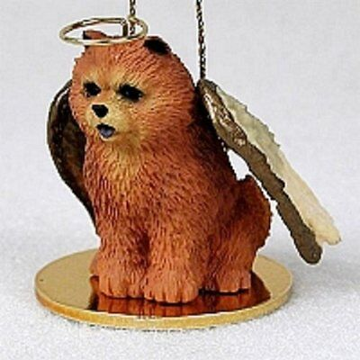 CHOW ANGEL DOG CHRISTMAS ORNAMENT HOLIDAY Figurine Statue Red memorial gift