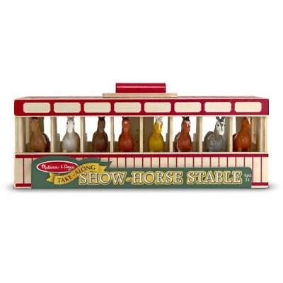 Melissa & Doug Take-Along Show-Horse Stable Play Set With Wooden Stable Box and