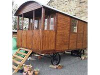 Shepherds Hut / Gypsy Wagon garden building log cabin shed glamping