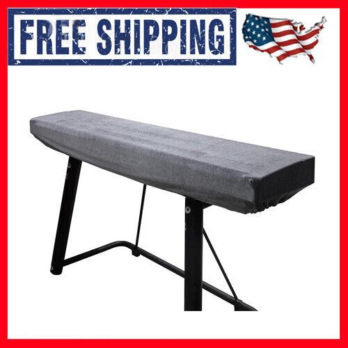 Womaco Piano Keyboard Cover Stretchy Plush Velvet Dust Cover For 76-88 Keys Digi