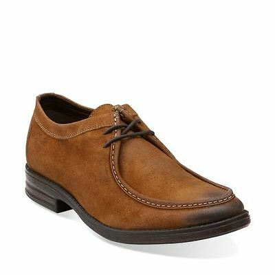 Clarks Casual Oxford (Clarks Men's Delsin Rise Casual Oxford Tan  Leather Nubuck Style# 26101893)