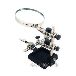 HEAVY DUTY HANDS FREE HELPING 3RD HAND MAGNIFIER 3.5