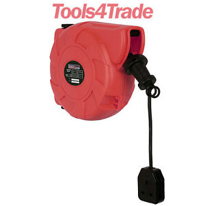 Sealey Cable Reel System Retractable 10mtr 1 x 230V Socket CRM101