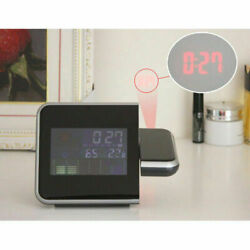 Popular new projection Digital Weather LCD Snooze Alarm Clock free shipping
