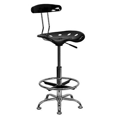 - Tractor Seat Bar Stools Drafting Stool Adjustable Height Swivel Chrome Office