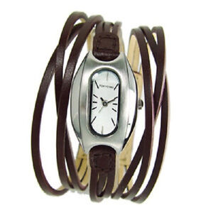 NEW TOKYO BAY WOMEN  WATCH  ANGEL MULTI  STRAND BROWN  Nice gift