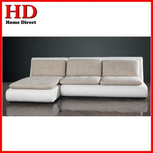 Leather Lounge Suite Chaise Ebay