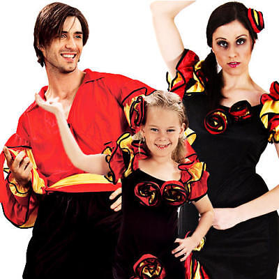 Spanish Rumba Dancer Fancy Dress Adults Kids Salsa Flamenco Mexican Costume New