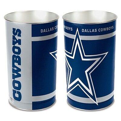 DALLAS COWBOYS ~ (1) NFL 15 Inch Wastebasket Trash Can ~ New! 15 Inch Wastebasket Trash Can