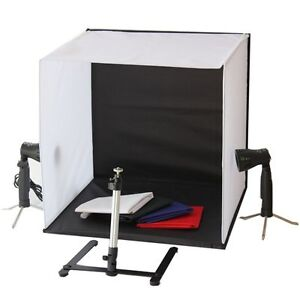mini portable photo studio lighting kit cube tent led ebay. Black Bedroom Furniture Sets. Home Design Ideas