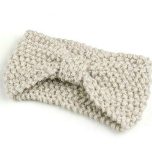 Knitting Headband For Baby : Knit bow headband hair accessories ebay