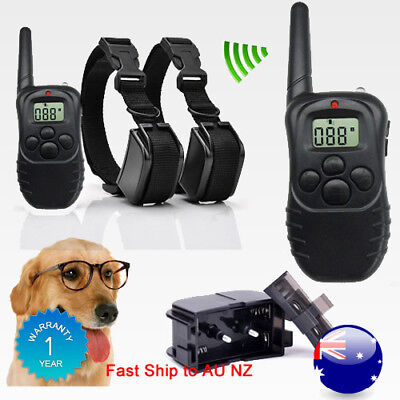 Safe Pet Trainer Remote Dog Non Shock Training Stop Bark Rechargeable Waterproof