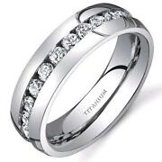 Mens Titanium Diamond Ring