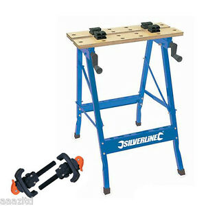 ... WORKBENCH & 2 CLAMPS workmate vice bench table 100kg work bench | eBay