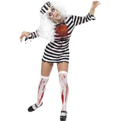 Halloween Damen Kostüm Zombie Gefangene blutig als Untote ()