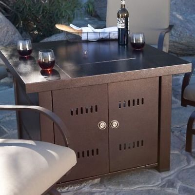 Out door Patio Heaters LPG Propane Fire Pit Hammered Bronze Steel Finish new