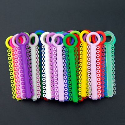 1040 Pc Dental Orthodontic Ligature Ties Braces Elastic Rubber Bands Mixed Color