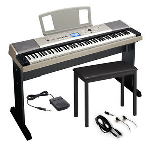 Yamaha YPG535 88-Key Portable Grand Digital Keyboard KEY ESSENTIALS BUNDLE