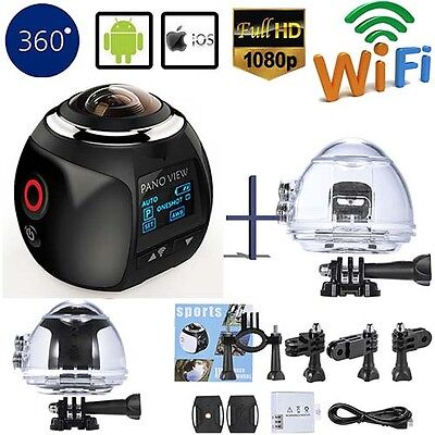 4K Wifi 360 Degree HD Ultra Panoramic Sport Camera Action Driving Helmet VR Cam
