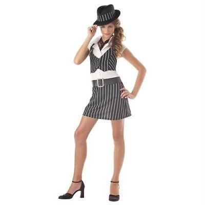Roaring 20s Costume (Mobster, Gangster, Roaring 20'S Girls Halloween Costume Teen 11-13 Juniors)