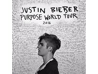 x2 Justin Bieber Tickets at The O2 arena - Tues 29/11/2016