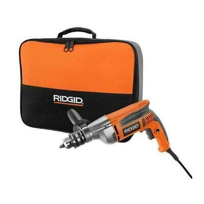 RIDGID Reversible Drill Electric Corded 1/2 Inch Heavy Duty Variable Speed 8 -