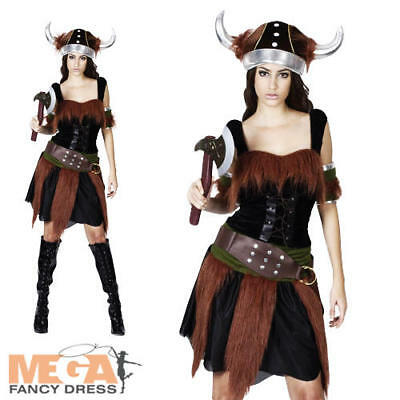 Sexy Viking Ladies Fancy Dress Saxon Warrior Adults Medieval Book Day Costume ](Female Viking Warrior Costume)