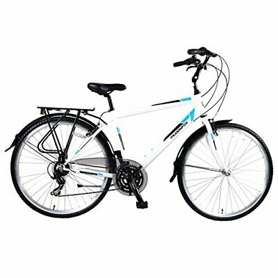 Muddyfox Unisex Voyager 100 City Bike Comfort 22 Inch Frame - White