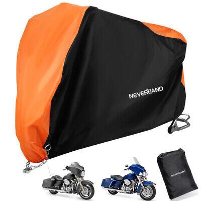 3XL Orange Motorcycle Cover Waterproof For Harley Davidson Electra Glide Ultra