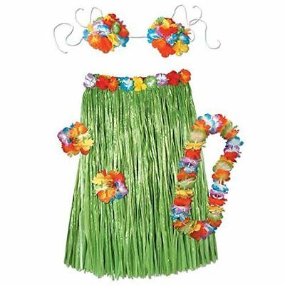 Beistle 50494 Adult Hawaiian Hula Outfit 5 Pieces Set One Size Best Price UK