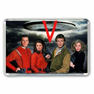 RETRO CULT TV-  'V'  VISITORS SCI FI SHOW - JUMBO FRIDGE / LOCKER MAGNET
