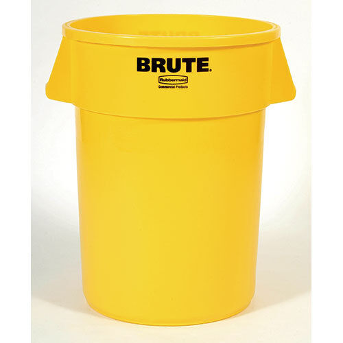 Rubbermaid 264300 Round Brute Container - 44 Gallon Capacity, Gray