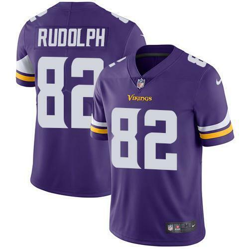 MINNESOTA VIKINGS KYLE RUDOLPH HOME PURPLE MEN XL JERSEY STITCHED.NWT - $69.99