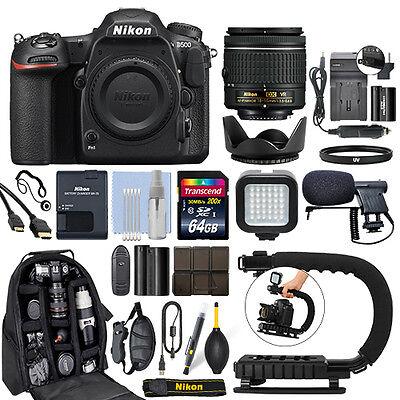 Nikon D500 Digital SLR Camera 4K with 18-55mm VR Lens + 64GB
