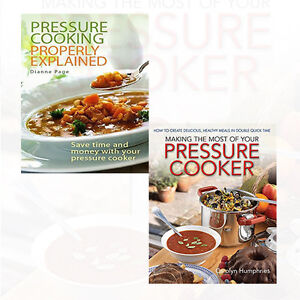 Dianne Page and Carolyn Humphries Collection 2 Books Set Pressure Cooking New PB