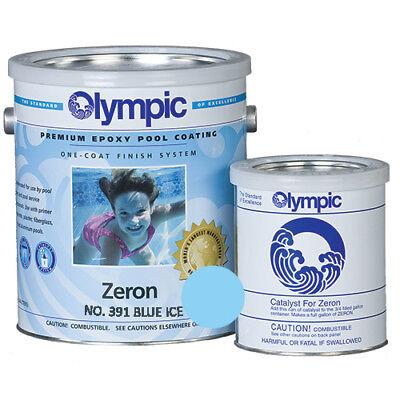(Olympic Zeron Blue Ice Epoxy Pool Coating 1 Gallon Plus Catalyst)