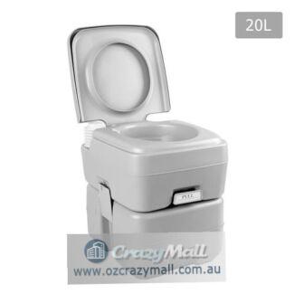 20 Litre Portable Camping Toilet,12L freshwater 50 flushes