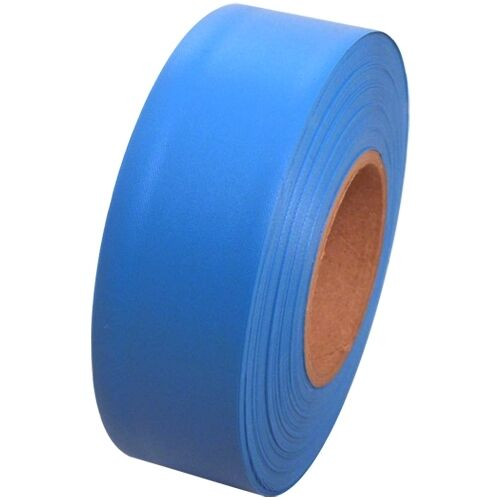 """Fluorescent Blue Flagging Tape 1 3/16"""" x 150 ft Roll Non-Adhesive"""