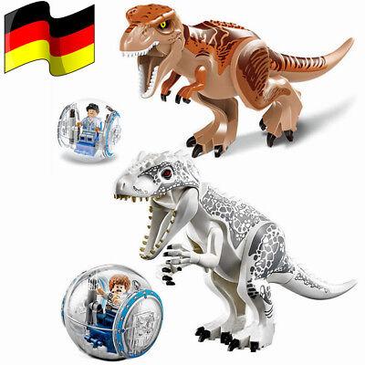 2Stk Kinder Jurassic World Dinosaurier Tyrannosaurus Rex Spielzeug 33.5*23*10cm (Jurassic World Dinosaurier)