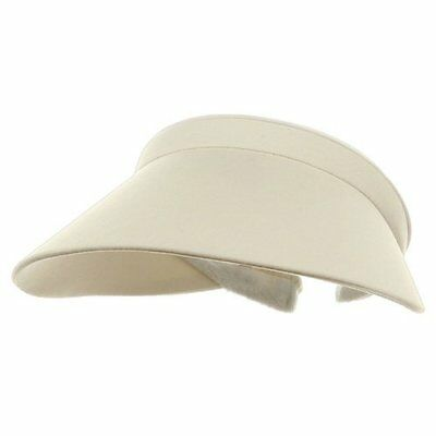(MG Large Peak Twill Clip On Ladies Visor)