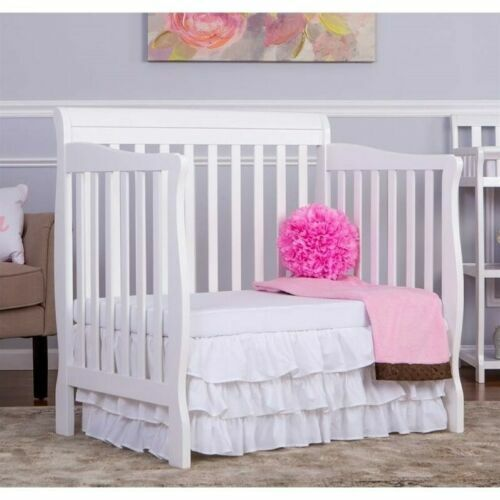 DREAM ON ME ~ ADEN 4-in-1 CONVERTIBLE Mini Crib Toddler Bed w/ FREE MATTRESS!