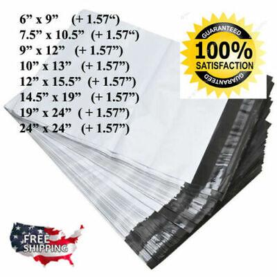 Poly Mailers- 6x9 7.5x10.5 9x12 10x13 12x15.5 14.5x19 19x24 24x24 Shipping Bag