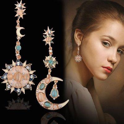 Women's Pearl Crystal Rhinestone Earrings Silver Plated Ear Stud Jewelry Gifts