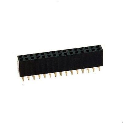 Buchsenleiste 32-polig (2x16), RM2,54mm, Höhe=8,5mm, zweireihig, gerade, 2St