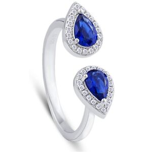 LADIES STERLING SILVER RING WITH OPEN DESIGN AND BLUE STONES Oakville / Halton Region Toronto (GTA) image 1